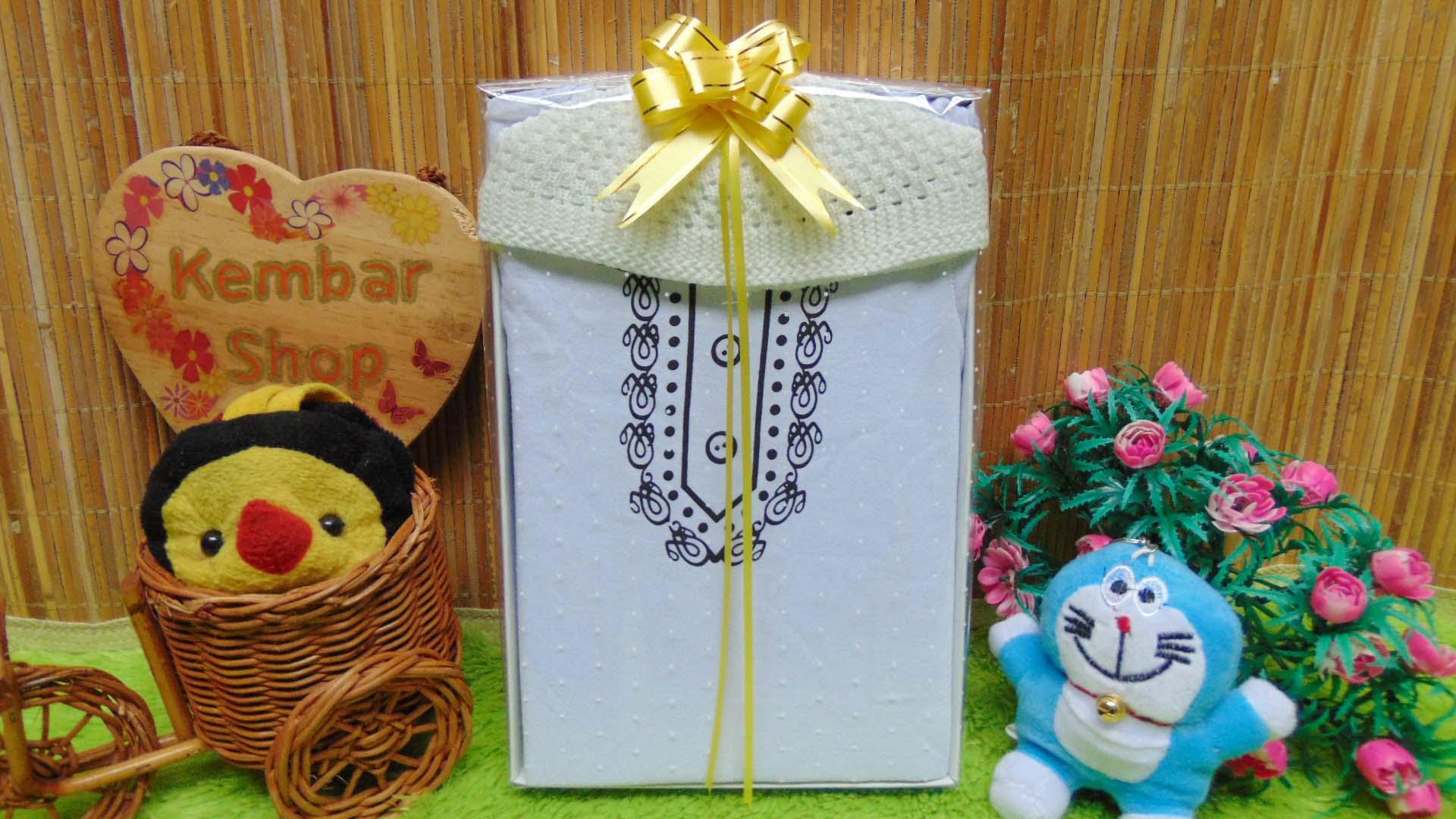 FREE KARTU UCAPAN paket kado lahiran bayi baby gift set box Romper bayi muslim Plus peci Aneka Warna (2)