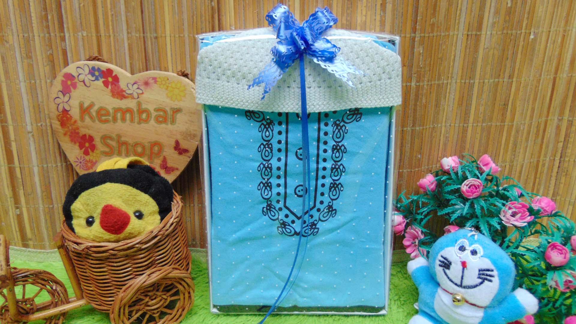 FREE KARTU UCAPAN paket kado lahiran bayi baby gift set box Romper bayi muslim Plus peci Aneka Warna (3)