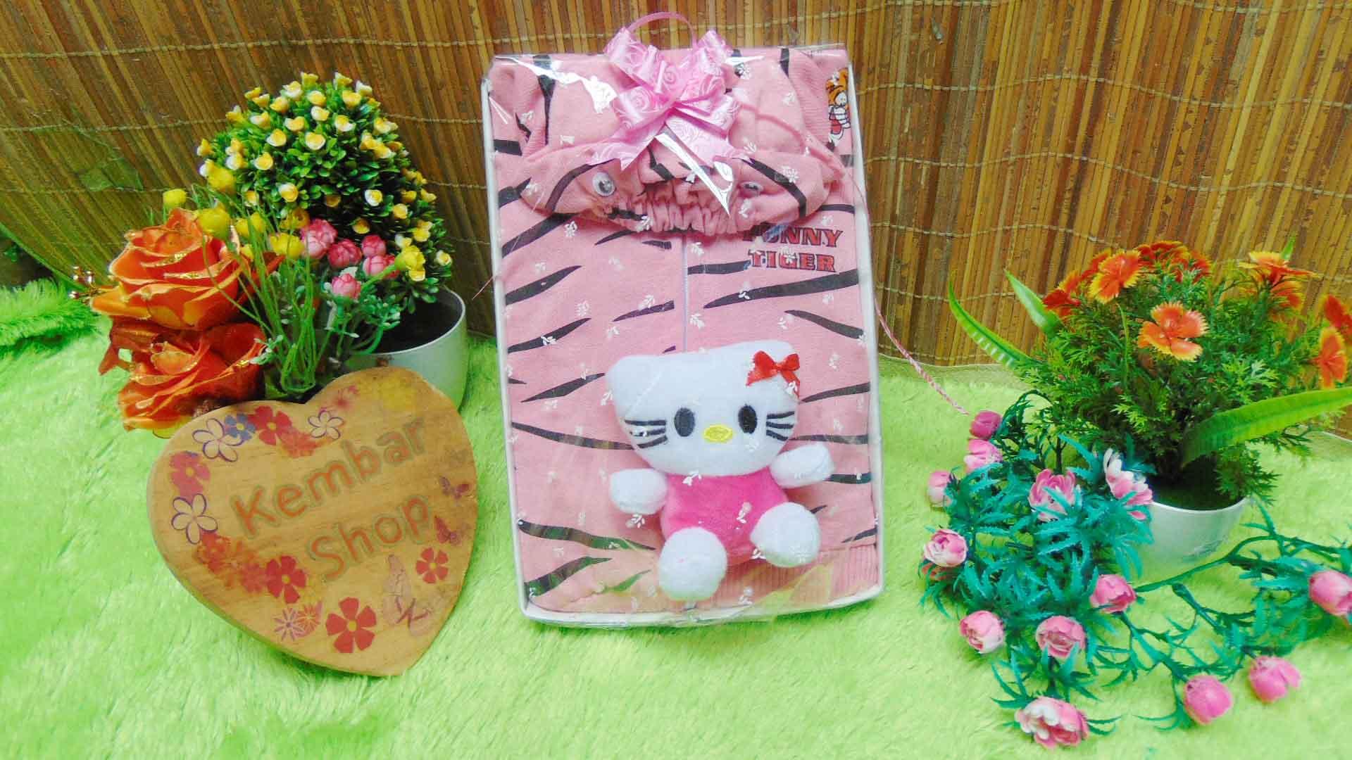 FREE KARTU UCAPAN paket kado lahiran bayi baby gift set box jaket plus boneka motif Tiger Harimau Aneka warna (2)
