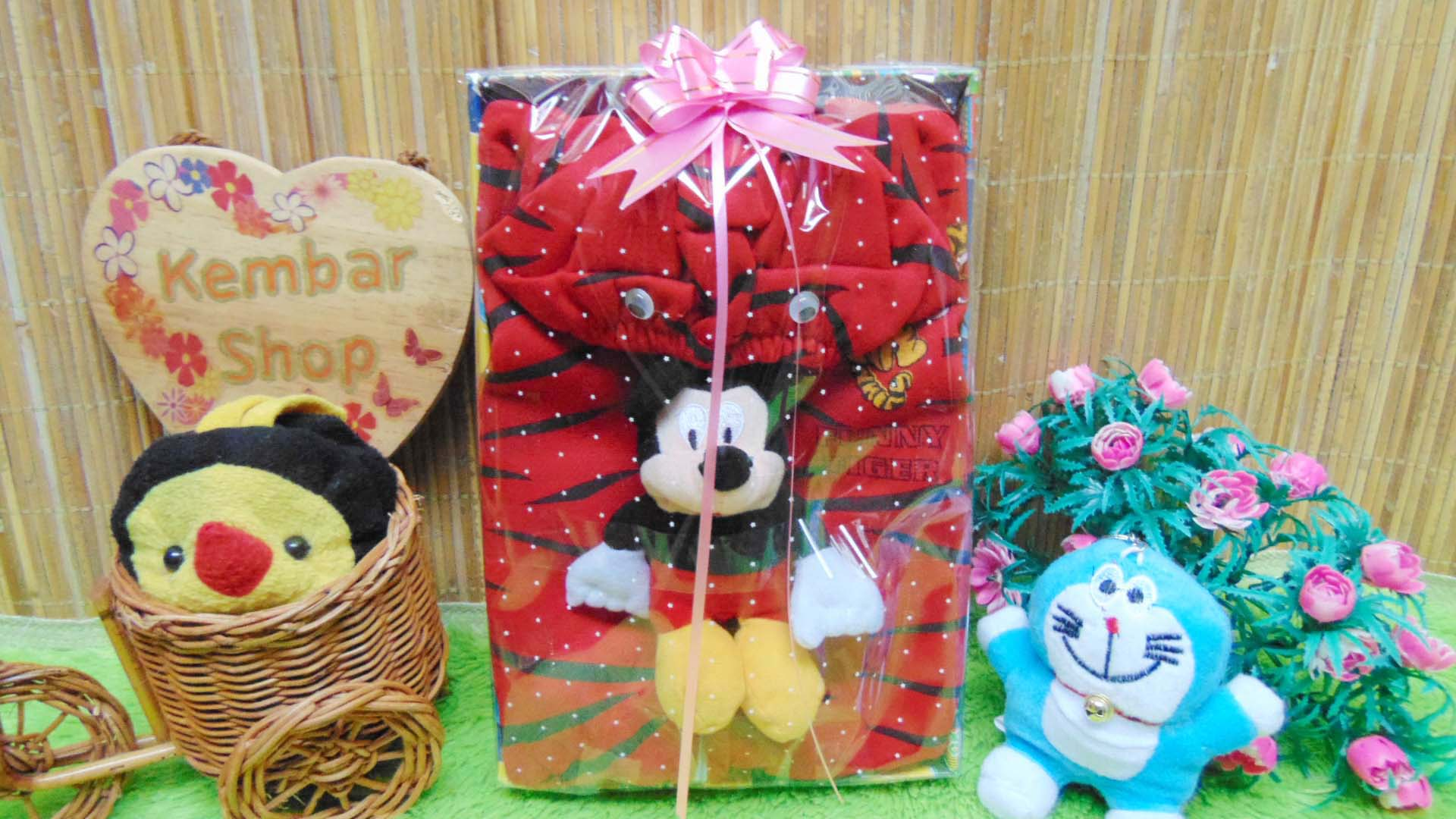 FREE KARTU UCAPAN paket kado lahiran bayi baby gift set box jaket plus boneka motif Tiger Harimau Aneka warna (3)