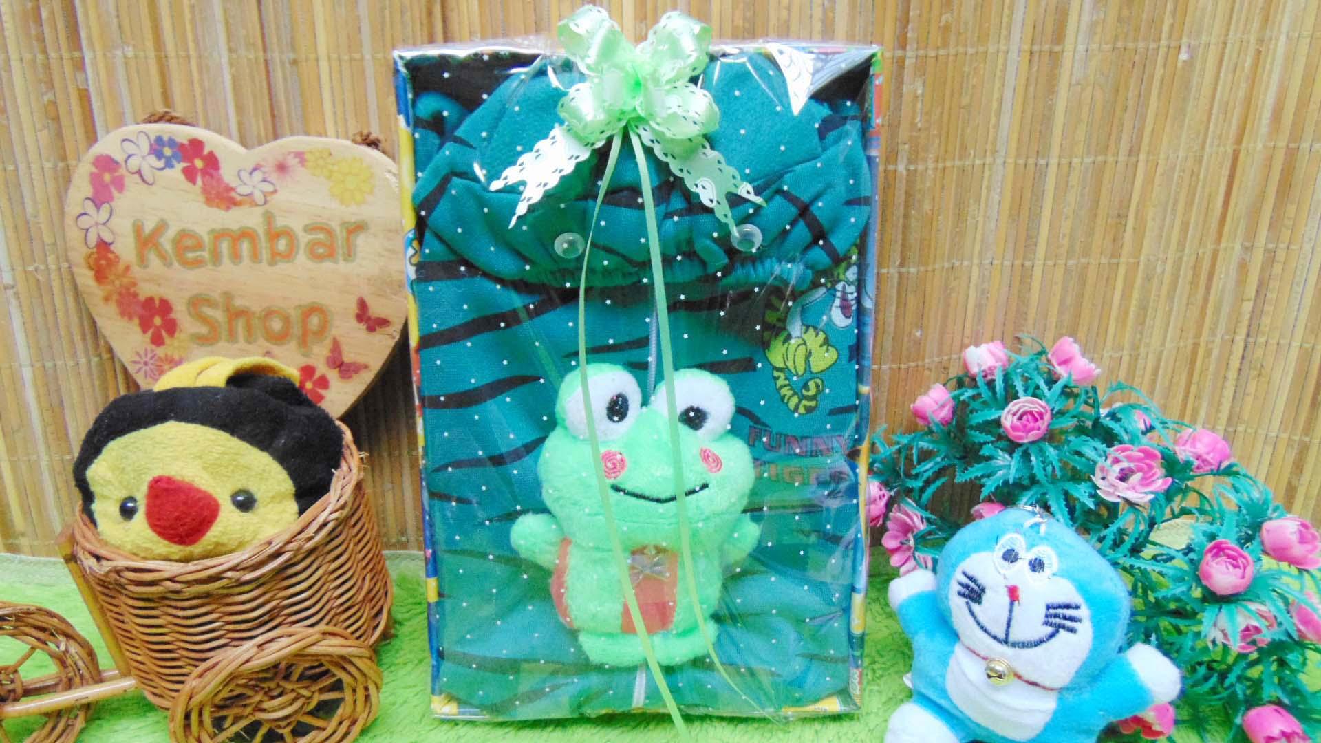 FREE KARTU UCAPAN paket kado lahiran bayi baby gift set box jaket plus boneka motif Tiger Harimau Aneka warna (4)