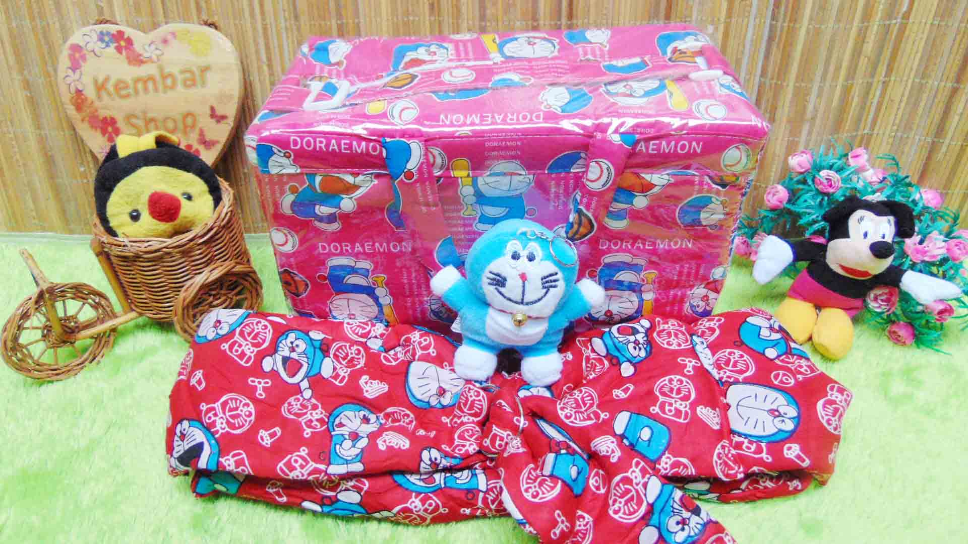 Kado bayi Persiapan melahirkan Paket Hemat spesial Bundling Tas, Gendongan, Ganci Doraemon