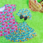 Paket Cantik Kado Baby Set Kaos Rok Turban Bayi 0-12bulan