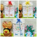 foto utama Paket kado bayi baby gift set box newborn baju koko putih list PLUS PECI ANEKA WARNA