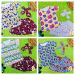 Paket Cantik Kado Baby Set Kaos Rok Bandana Bayi 0-12bulan