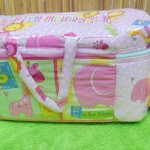 utama kado bayi tas perlengkapan bayi motif polka animal aneka warna dengan tempat botol susu tahan panas dingin (2)