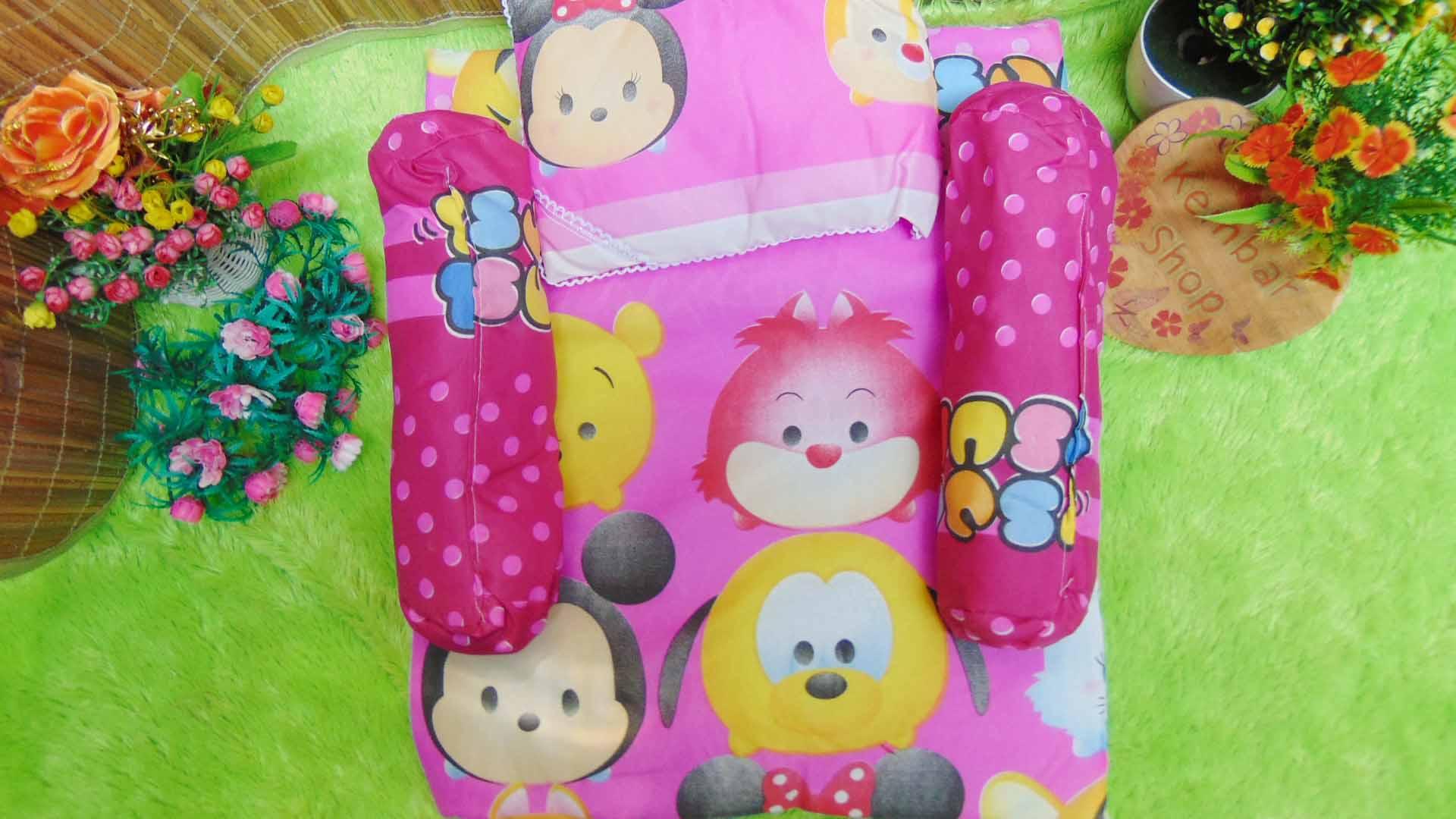 PALING MURAH kado bayi set kasur bayi karakter teddy bear disney tsum tsum (1)