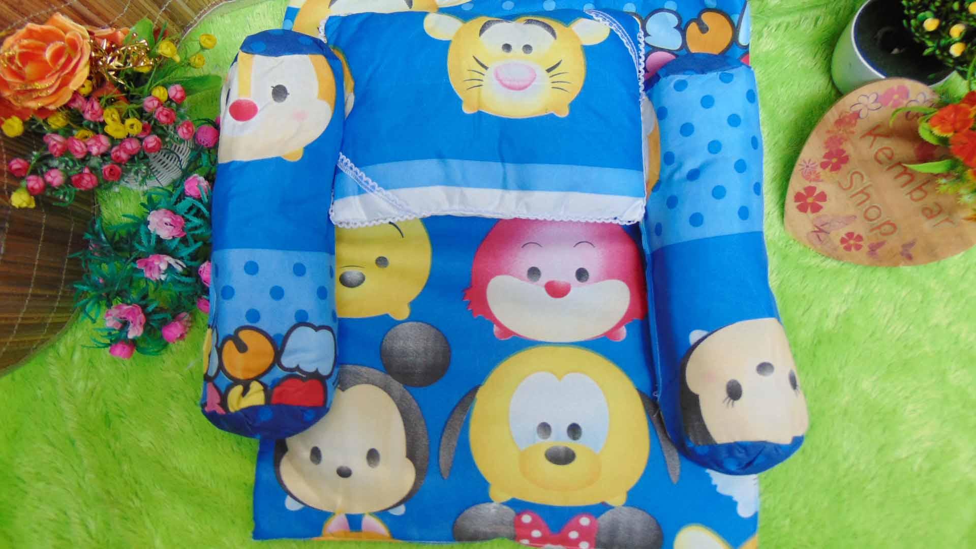 PALING MURAH kado bayi set kasur bayi karakter teddy bear disney tsum tsum (3)