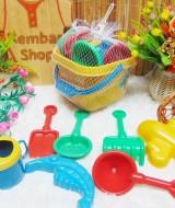 FREE BUBBLE WRAP Kado Ulang Tahun Mainan Edukasi Anak Cetakan Ember Pasir Pantai Lengkap dengan Cetakan dan Sekop (2)