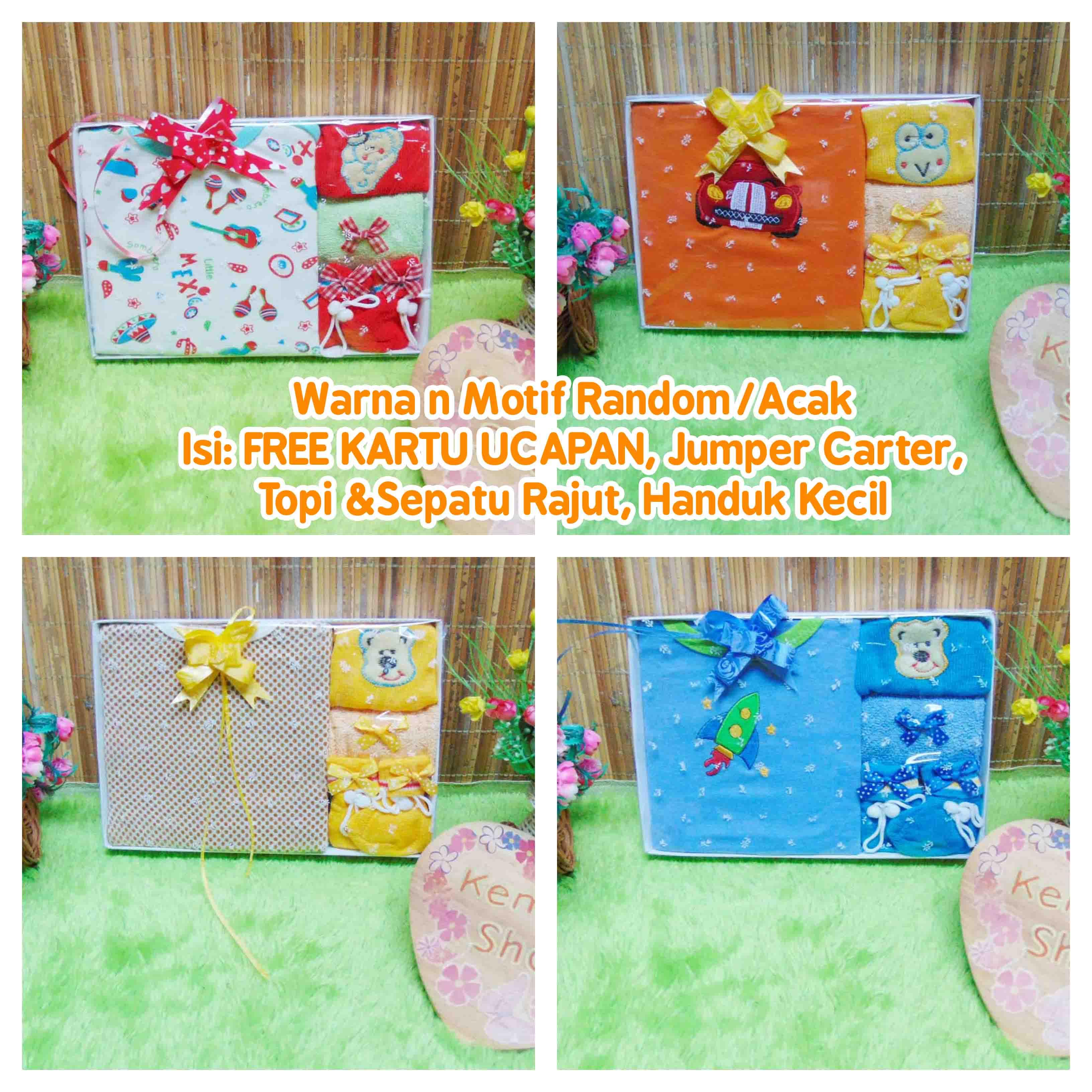 FREE KARTU UCAPAN Hadiah Baby Gift Kado Lahiran Baby Newborn Boy Laki-Laki Box Paket Kado Bayi Jumper Carter n Rajut (2)