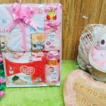 FREE KARTU UCAPAN Kado Lahiran Paket Kado Bayi Newborn Baby Gift Box Diapers Pospak plus Setelan Bayi