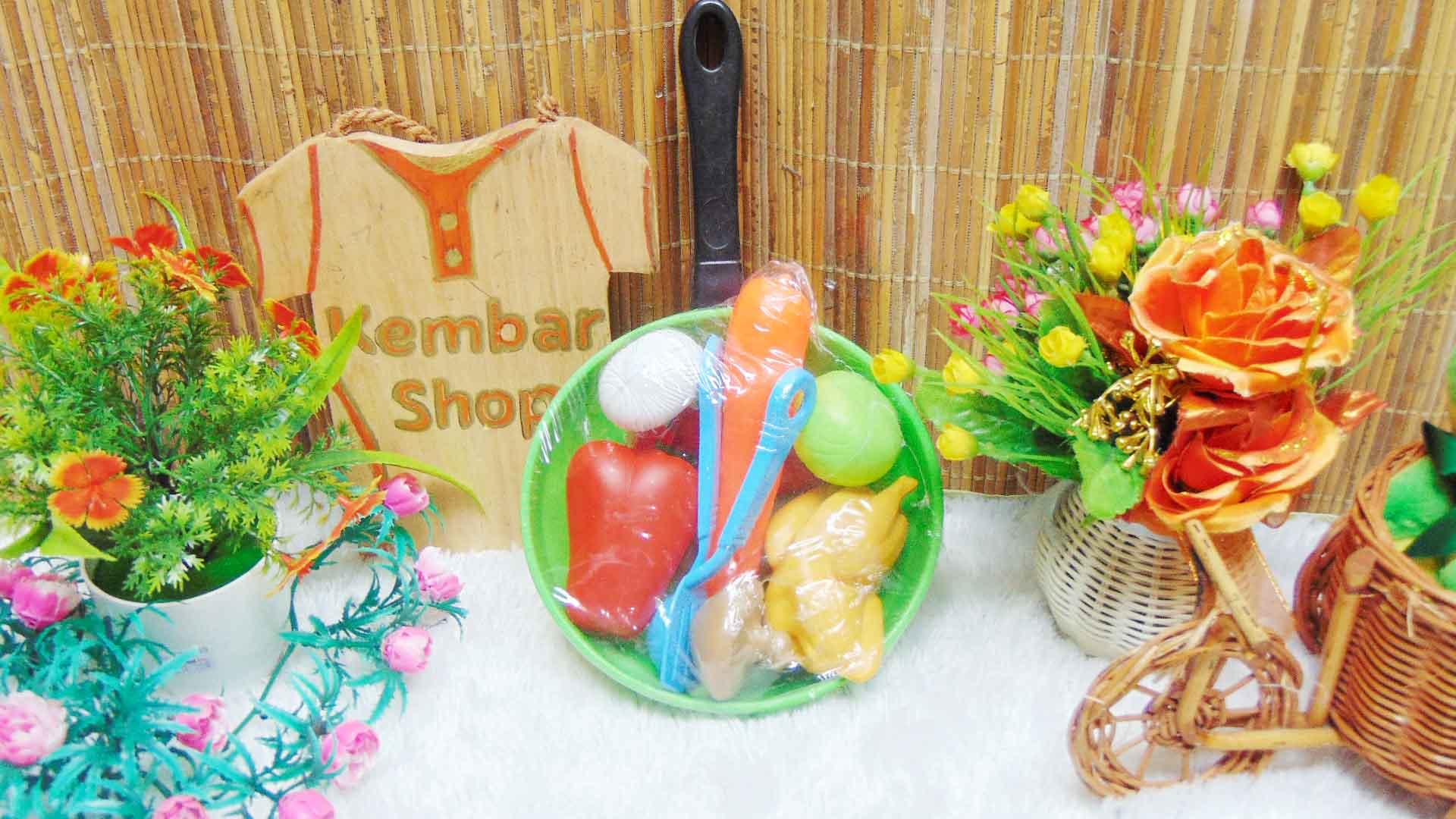 kado ulang tahun mainan anak masak-masakan wajan teflon plus isi warna random (2)