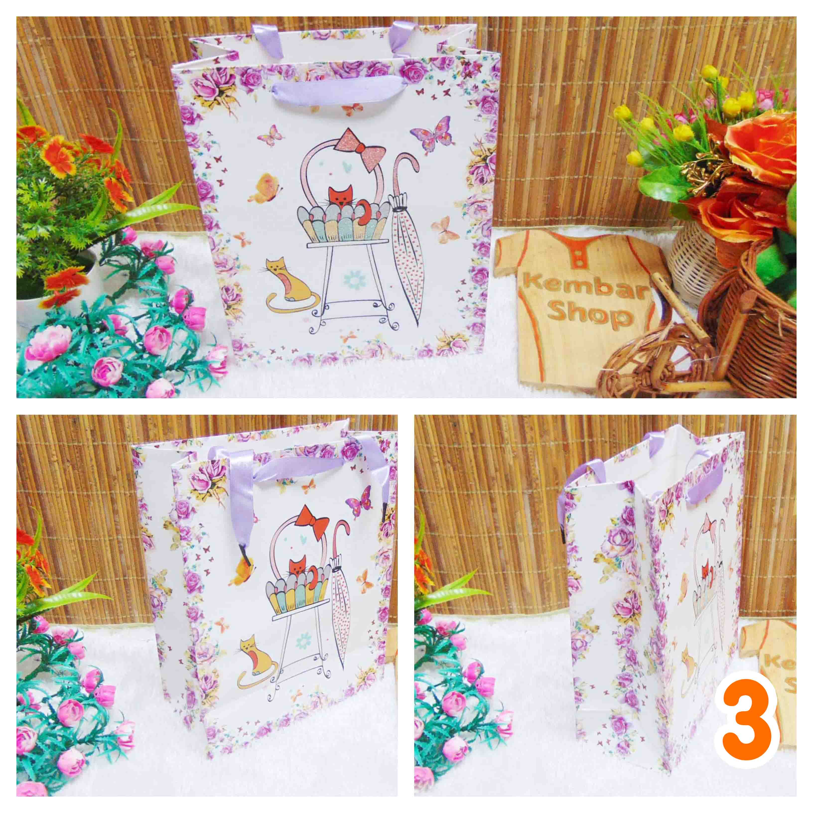 kemasan kado, bungkus kado, tas souvenir, tas kado, paper bag, gift bag butterfly umbrella (1)