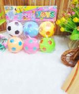 mainan anak bayi set 6pcs bola vynil karet teman mandi kanca adus bisa bunyi