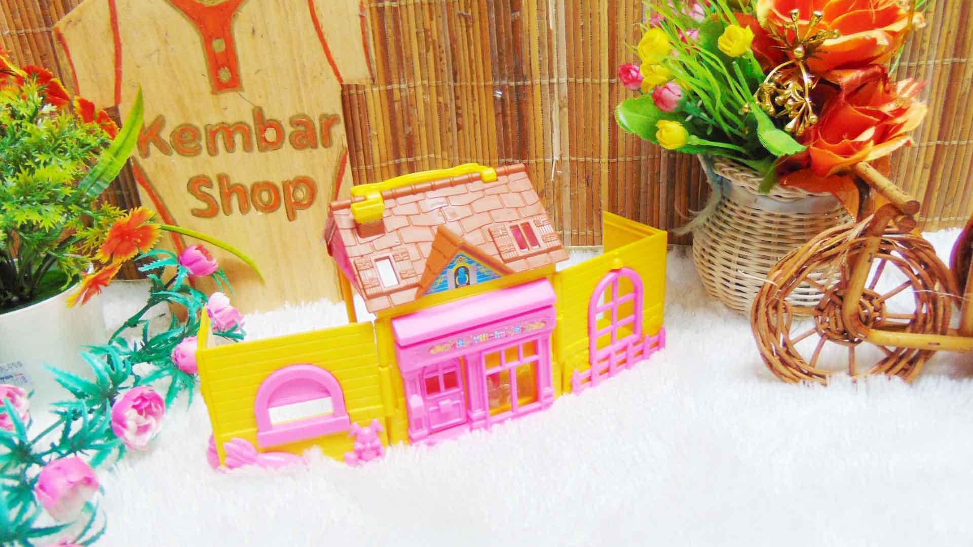 mainan anak rumah-rumahan tiga dimensi plus perabotan mini warna random (1)