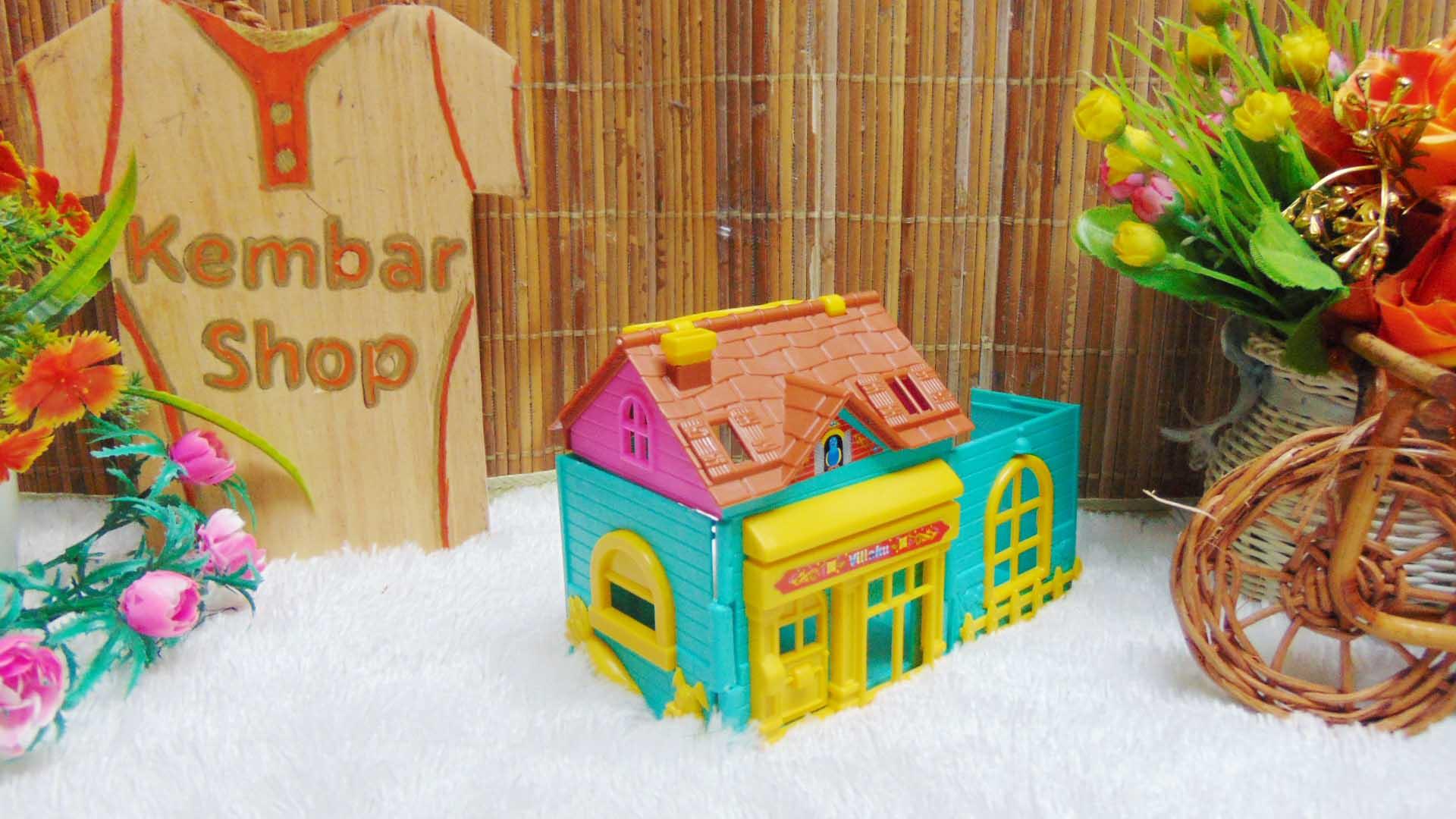 mainan anak rumah-rumahan tiga dimensi plus perabotan mini warna random (3)