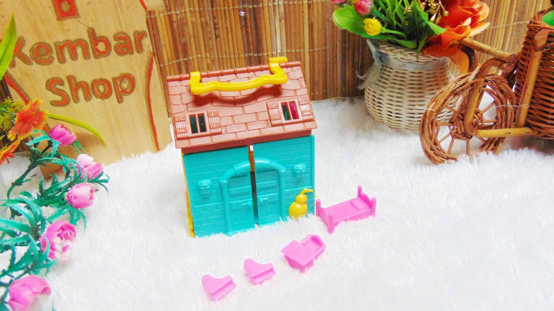 mainan anak rumah-rumahan tiga dimensi plus perabotan mini warna random (8)