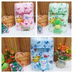 FREE KARTU UCAPAN paket kado lahiran bayi baby gift set box jaket plus boneka motif Fish Come&Play Aneka warna