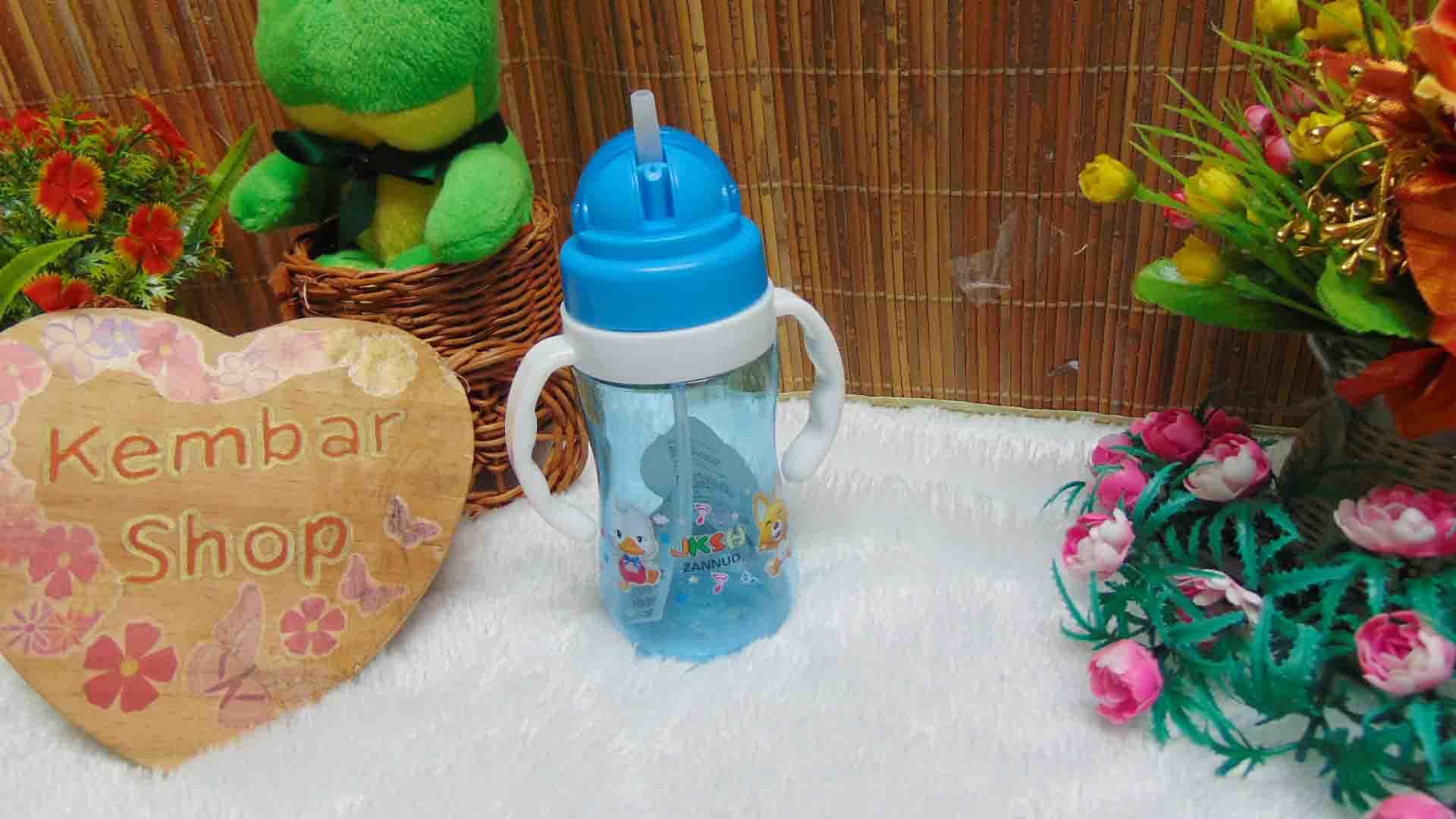 FREE BUBBLE WRAP tenpat botol minum anak bayi batita balita PAUD dengan pegangan dan sedotan (3)