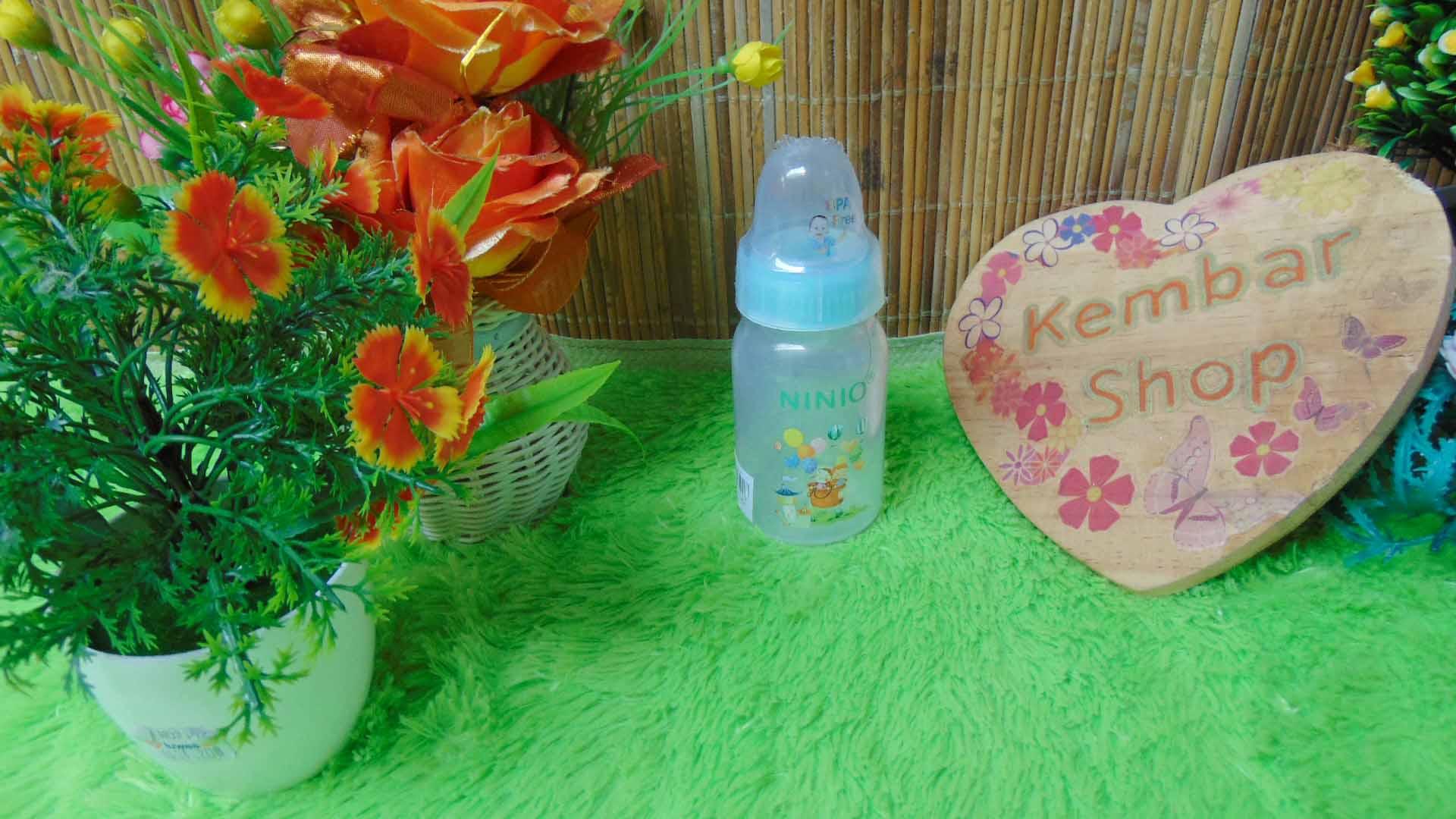 Botol Susu Dot Bayi Ninio Round Bottle Shrink 120mL (1)