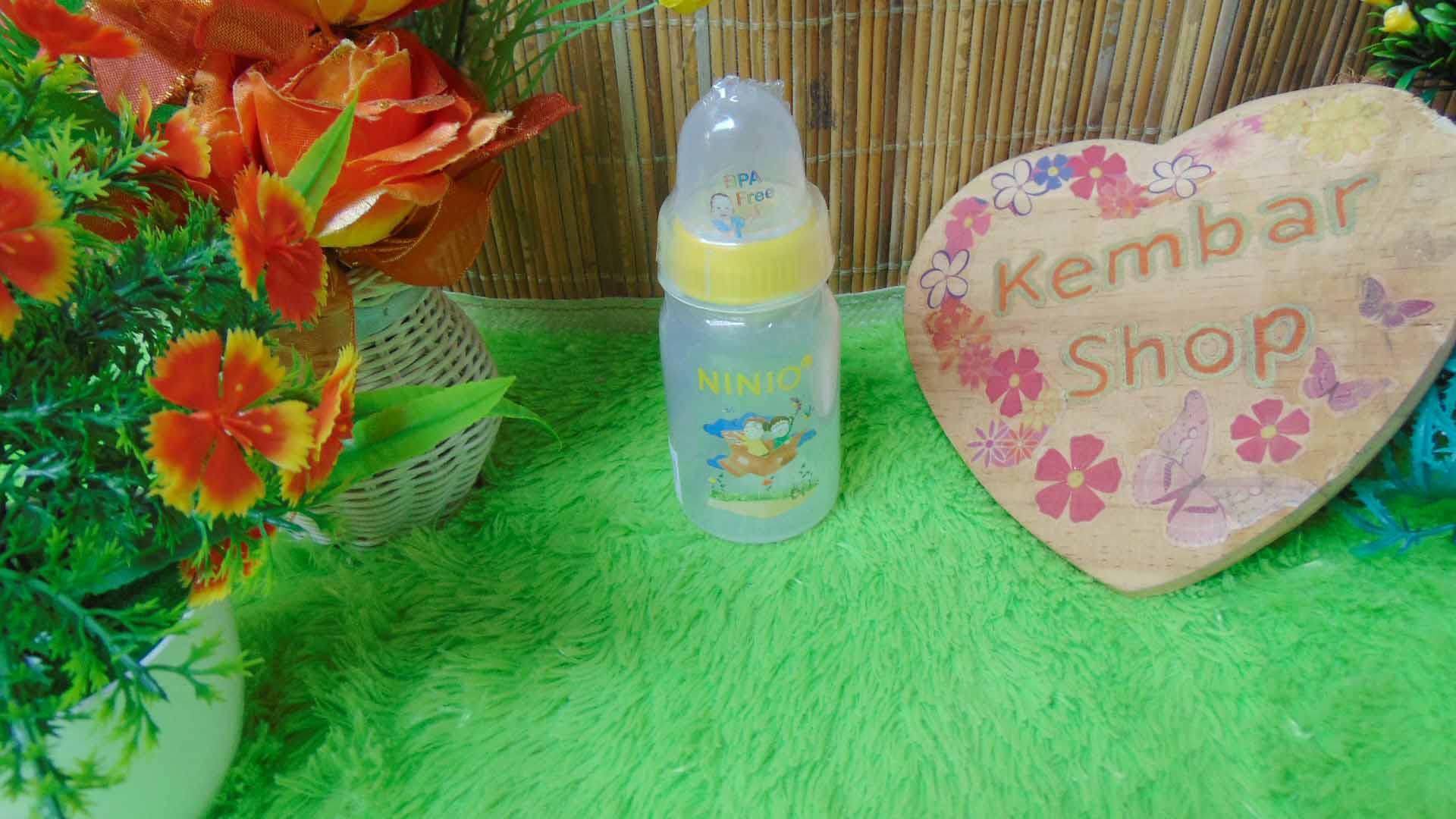 Botol Susu Dot Bayi Ninio Round Bottle Shrink 120mL (4)