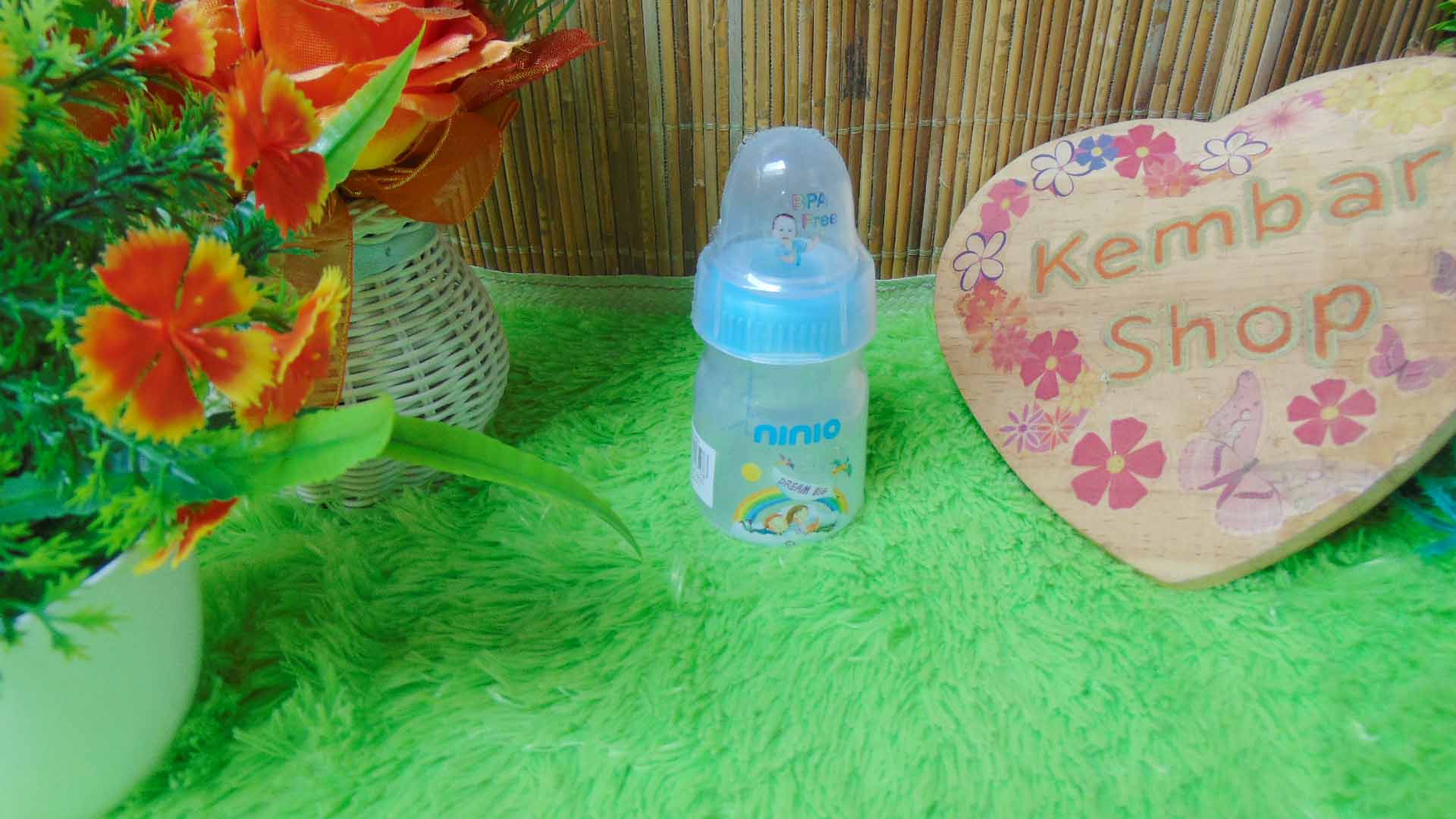 Botol Susu Dot Bayi Ninio Round Bottle Shrink 50mL (1)