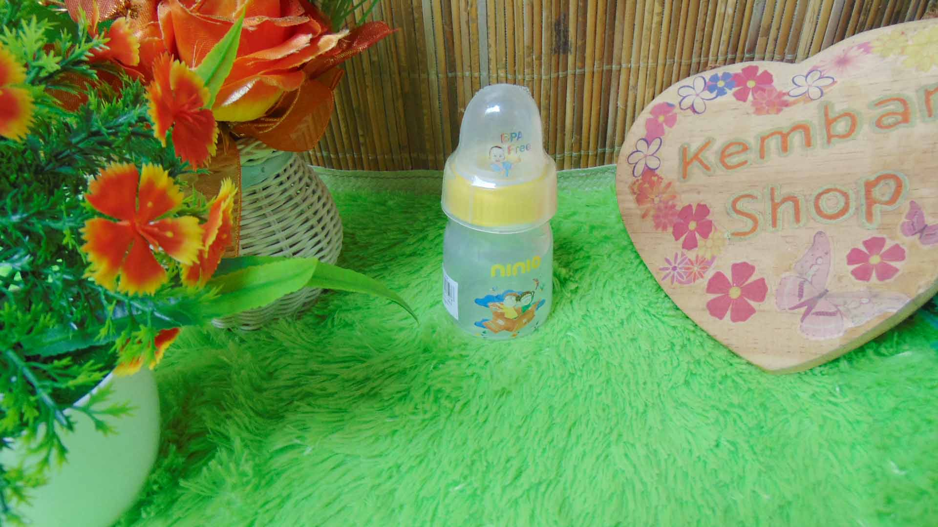 Botol Susu Dot Bayi Ninio Round Bottle Shrink 50mL (3)