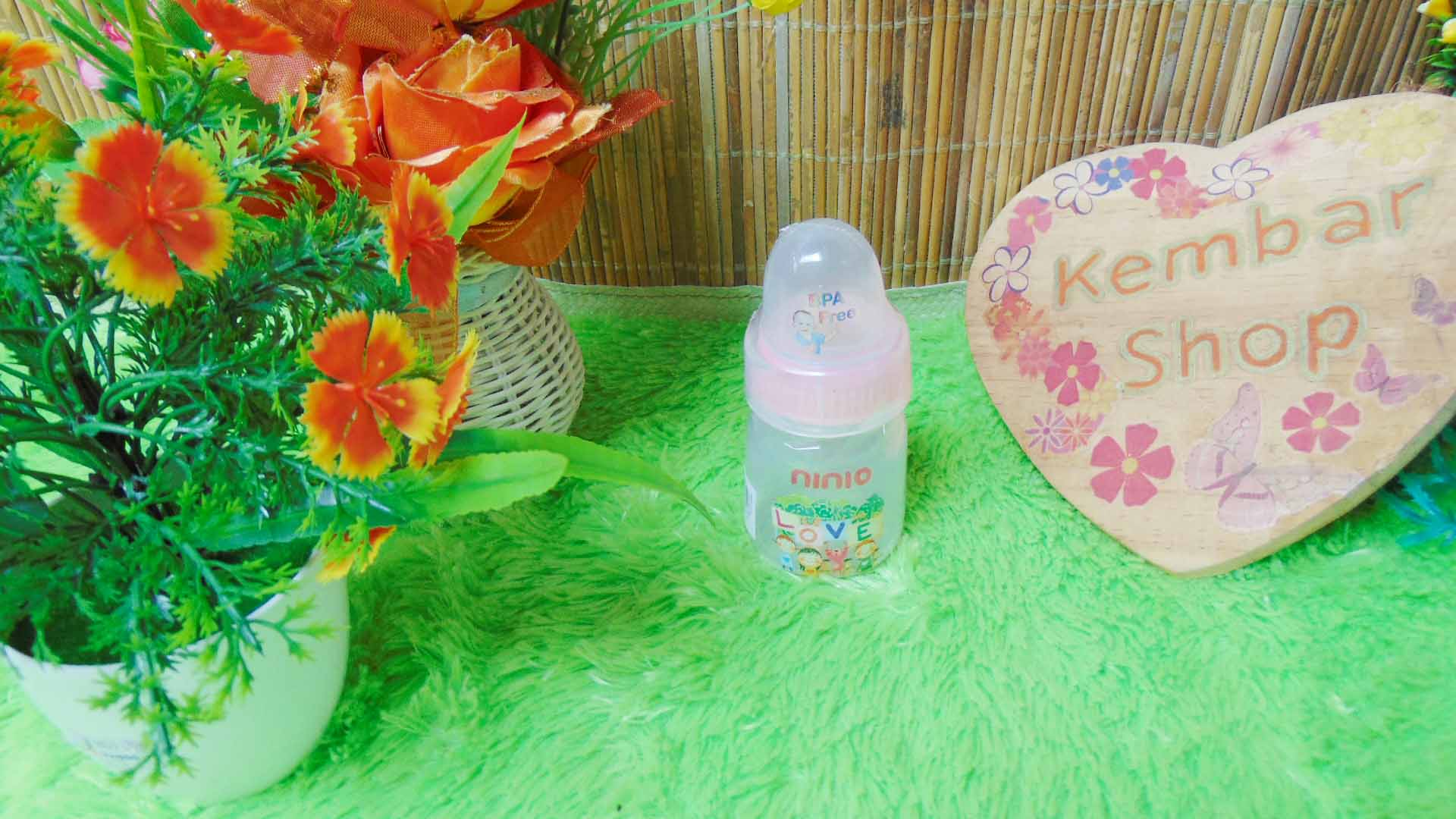 Botol Susu Dot Bayi Ninio Round Bottle Shrink 50mL (4)