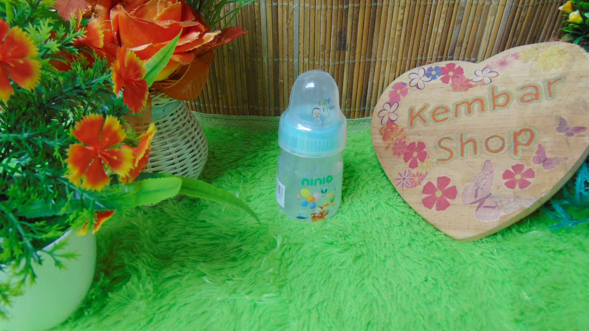 Botol Susu Dot Bayi Ninio Round Bottle Shrink 50mL (5)