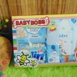 FREE KARTU UCAPAN Kado Lahiran Paket Kado Bayi Newborn BabyBoss Gift Box Wipes Detergen plus Setelan Bayi