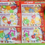 kado bayi murah set 4pcs mainan bayi rattle icik-icik krincingan bisa bunyi komplit Aneka bentuk (2)