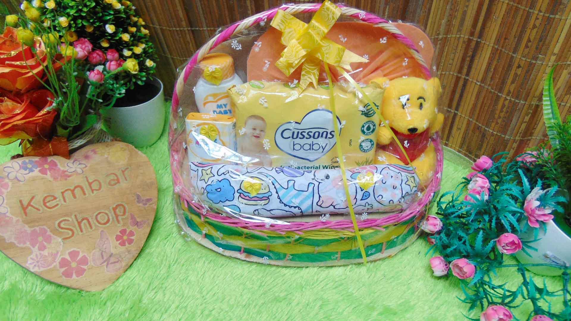 FREE KARTU UCAPAN Parcel Kado Bayi Baby Gift Tangkai Dress Lengkap Baby Girl Perempuan (1)