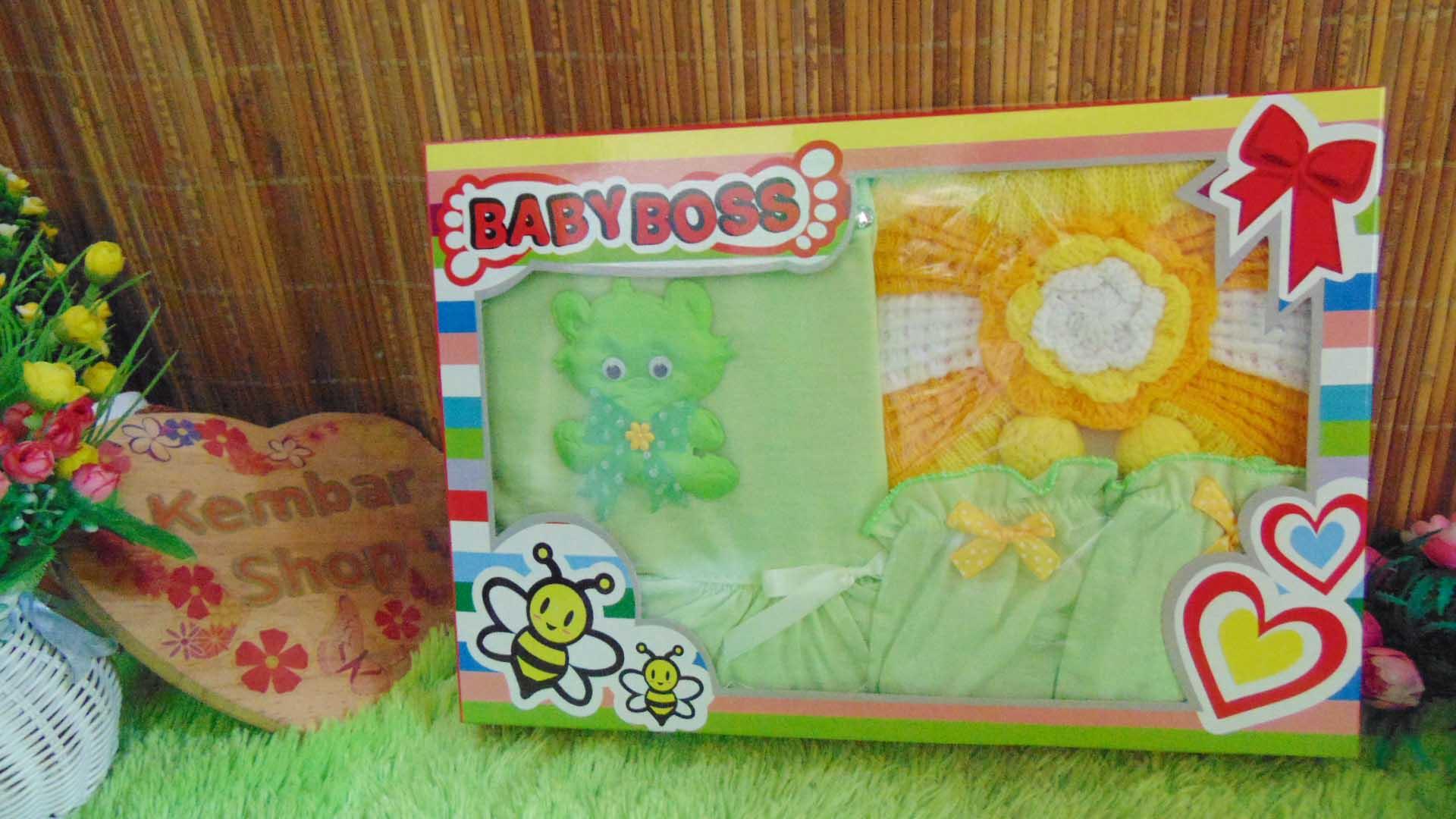FREE KARTU UCAPAN Paket Cantik Kado Bayi Perempuan Baru Lahir 0-6bulan Setelan Baby Girl + Turban Warna Random (3)