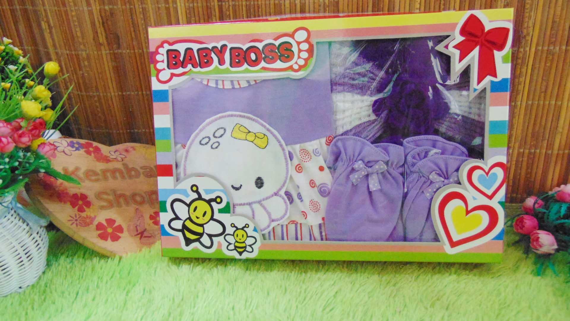 FREE KARTU UCAPAN Paket Cantik Kado Bayi Perempuan Baru Lahir 0-6bulan Setelan Baby Girl + Turban Warna Random (4)
