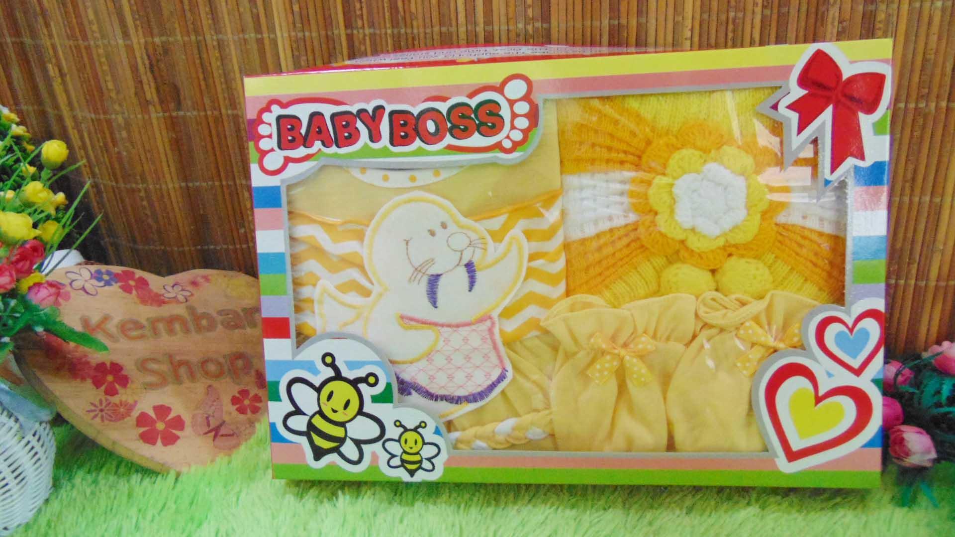FREE KARTU UCAPAN Paket Cantik Kado Bayi Perempuan Baru Lahir 0-6bulan Setelan Baby Girl + Turban Warna Random (5)
