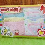 FREE KARTU UCAPAN Paket Kado Bayi Baru Lahir BabyBoss 6Pcs Baju+6Pcs Celana Kacamata
