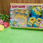 FREE KARTU UCAPAN Paket Kado Bayi Baru Lahir Minion Minions 3in1