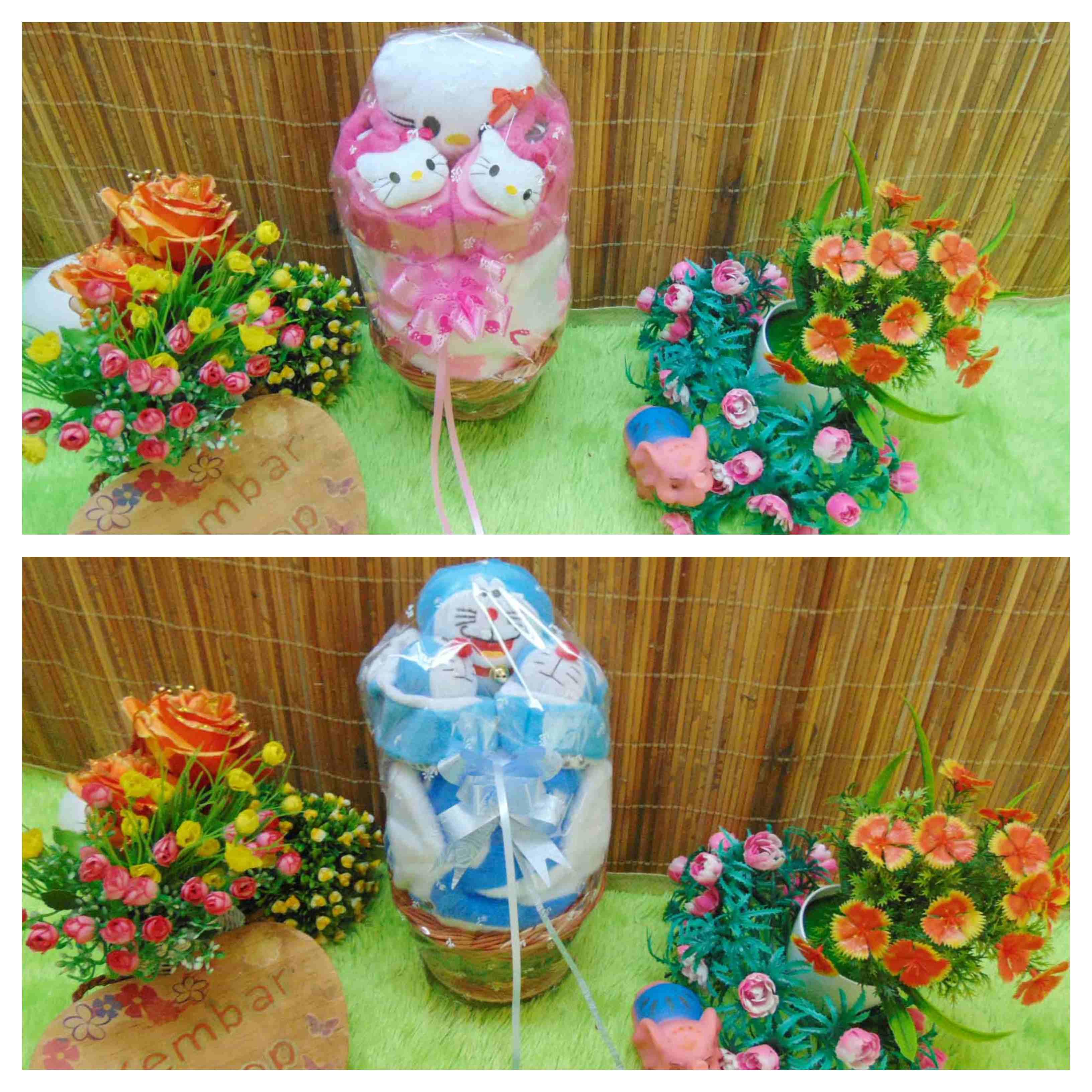 FREE KARTU UCAPAN Parcel Mini Kado Bayi Jaket Baby Plus Sepatu Boneka Karakter (1)