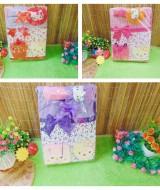 FREE KARTU UCAPAN gift box paket kado bayi cewek perempuan baru lahir hello kitty warna random (1)
