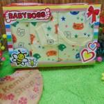 FREE KARTU UCAPAN Paket Kado Bayi Sleepsuit Hemat 3in1 (2)