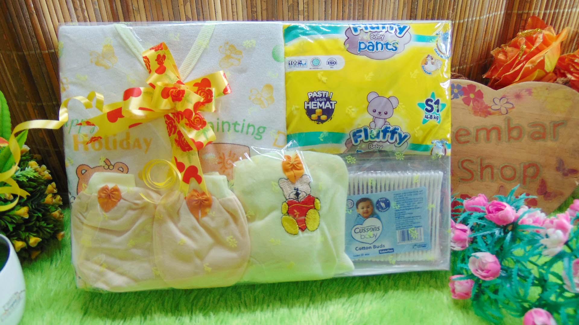 Hampers Baby Gift Kado Lahiran Bayi Newborn Diapers Cotton Buds FREE UCAPAN (3)