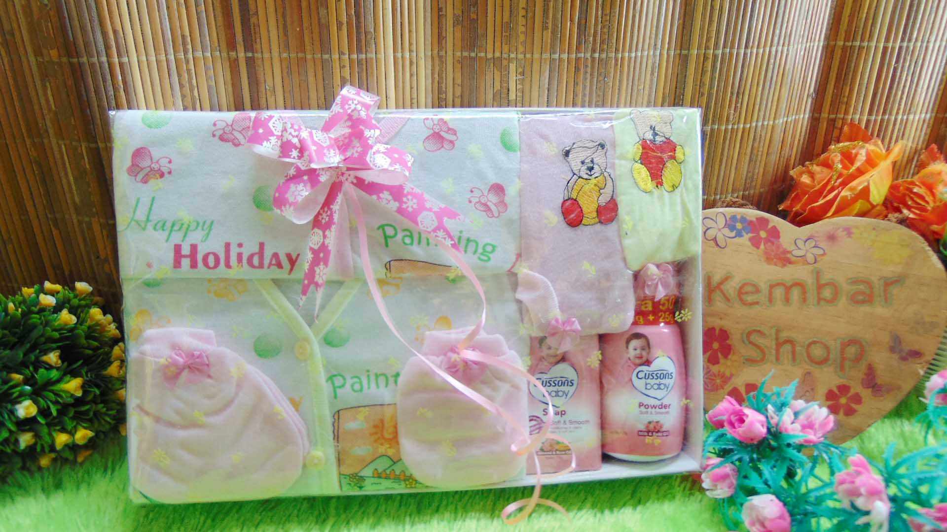 Hampers Kado Lahiran Bayi Newborn 2in1 Parcel Murmer FREE UCAPAN (2)