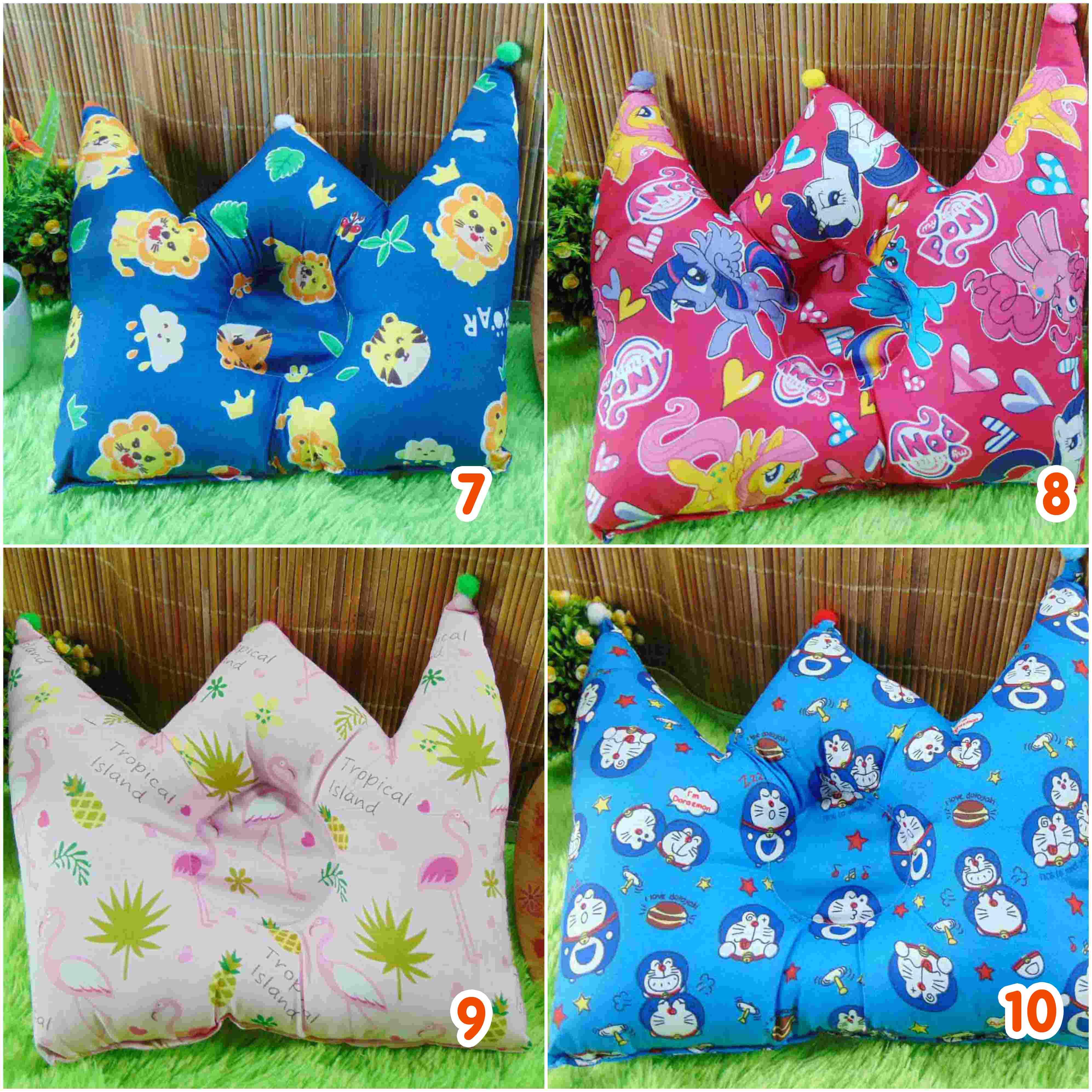 kado bayi Bantal mahkota crown pillow bantal peyang Peang bayi baby aneka motif (3)