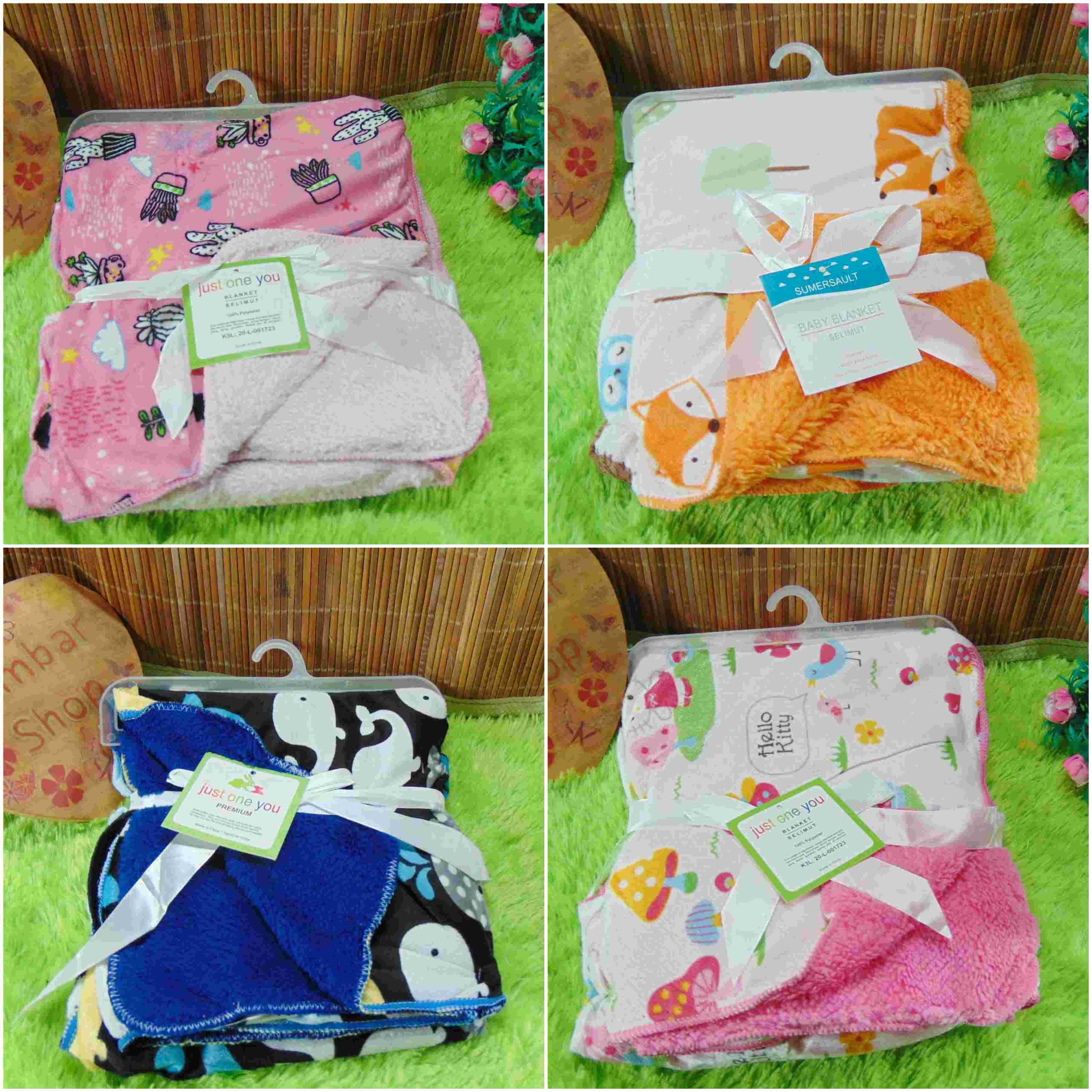 kado bayi baby gift selimut carter double fleece bayi aneka motif (3)