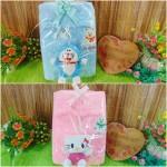 FREE KARTU UCAPAN paket kado lahiran bayi baby gift set box jaket Bulu plus boneka