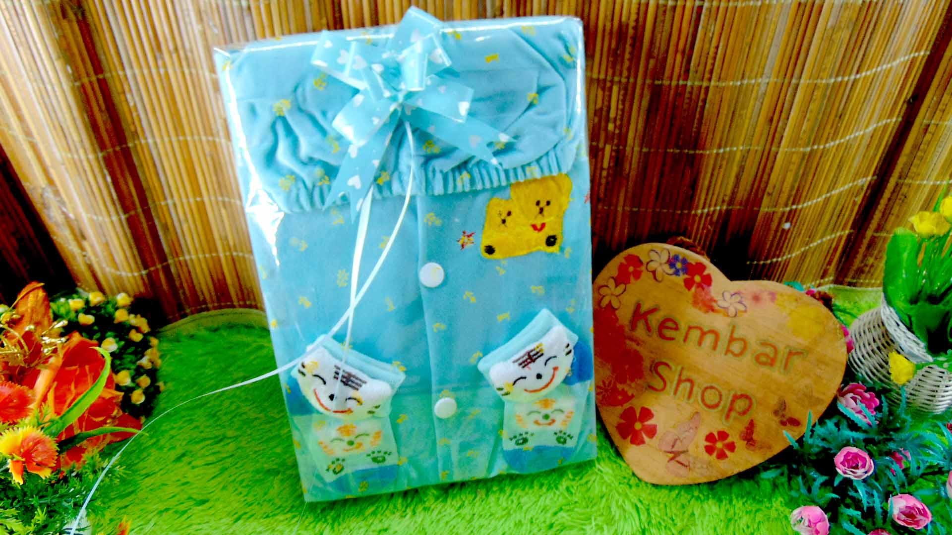 6 FREE KARTU UCAPAN paket kado lahiran bayi baby gift set box jaket plus sock ANEKA motif