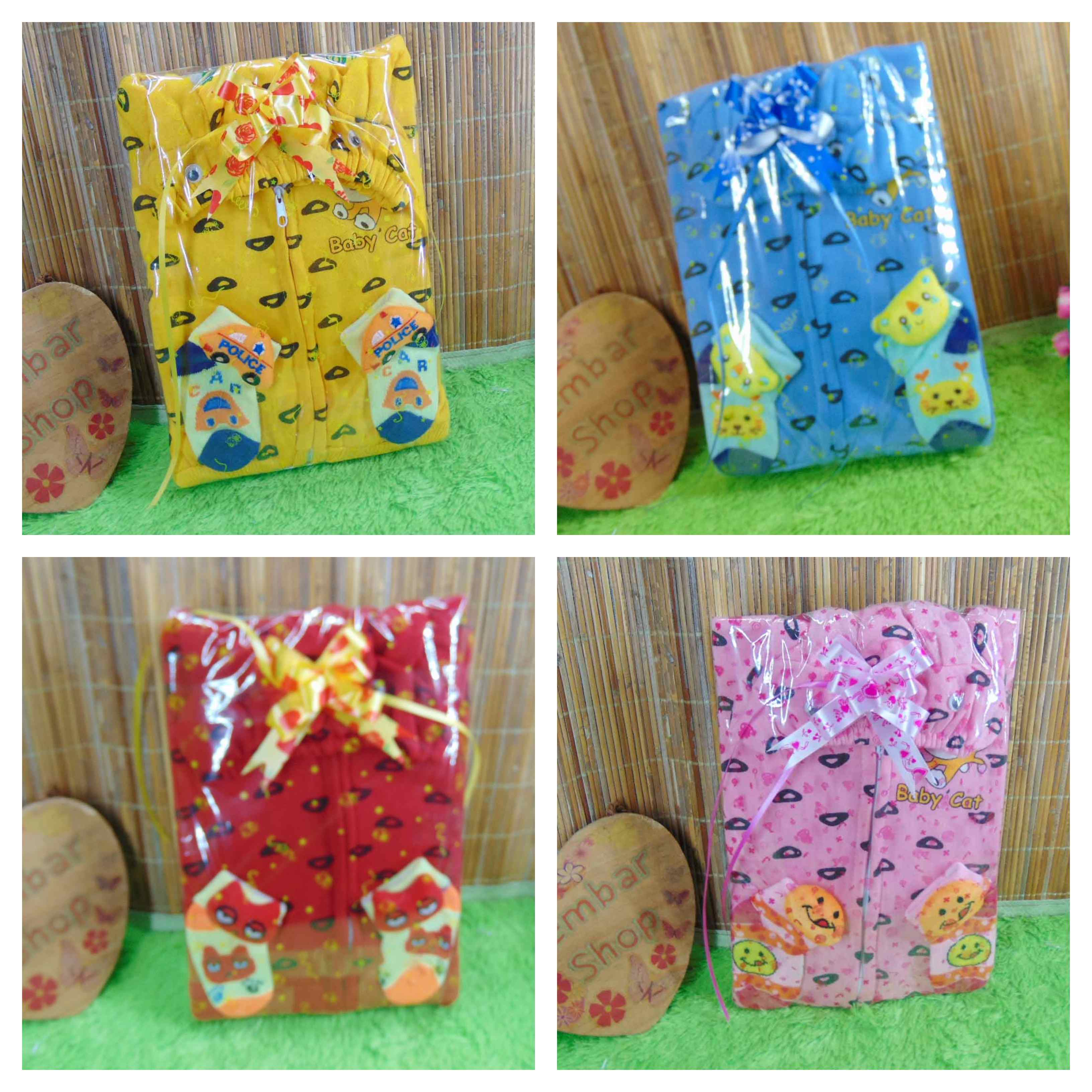 FOTO UTAMA - FREE KARTU UCAPAN kado bayi baby gift set jaket sock newborn 0-12bulan plus kaos kaki boneka (6)