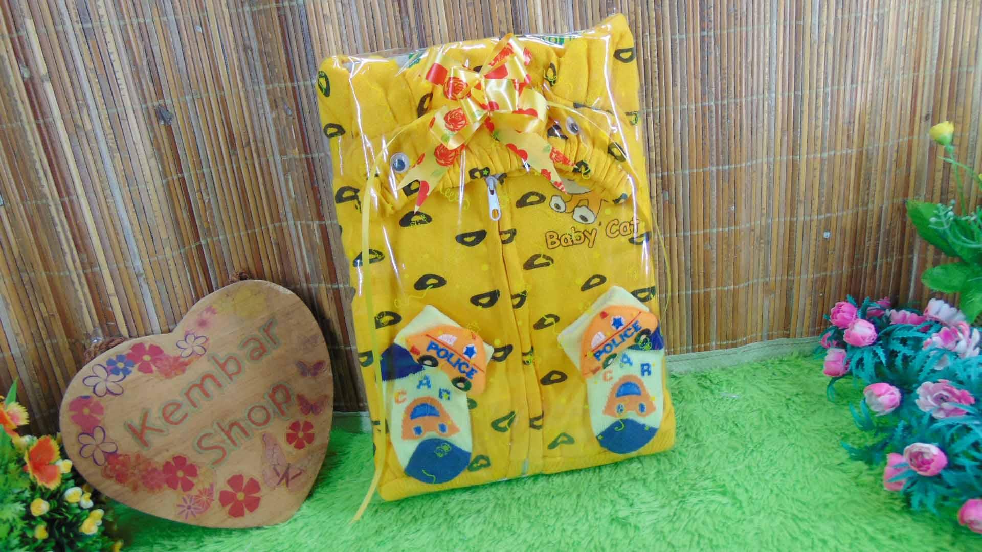 FREE KARTU UCAPAN kado bayi baby gift set jaket sock newborn 0-12bulan plus kaos kaki boneka (2)