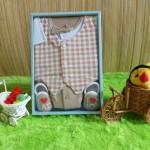 baby gift set paket kado bayi cowok cream