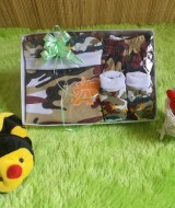 paket kado bayi ARMY PUTIH COKELAT Rp 49.000 terdiri dari kaos army,celana,topi,dan sepatu army bayi muat untuk 0-9 bulan